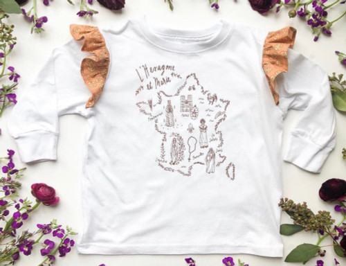 L'Hexagone et Marie Ruffled Tee