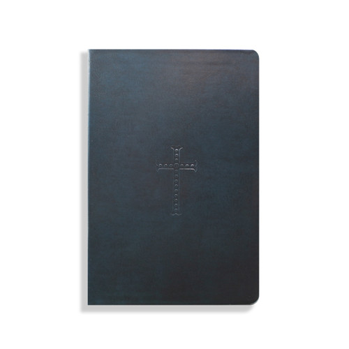 Navy Bonded Leather Bible