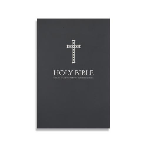 Gray Cross Paperback Bible
