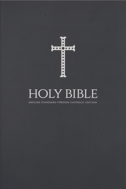 Gray Cross Paperback Bible