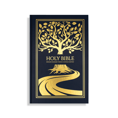 Gold Tree of Life Hardcover Bible