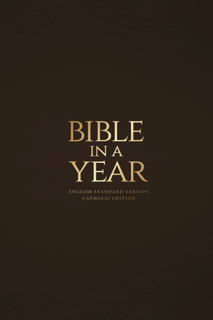 Mahogany Bonded Leather - Bible in a Year