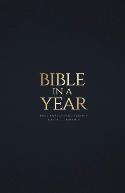 Navy Bonded Leather - Bible in a Year