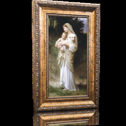 "L'Innocence - Framed Canvas 6"" x 11"" (Including gold frame: 9.5"" x 14.5"")"