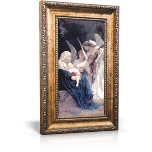 "Song of the Angels - Framed Canvas 6"" x 11"" (Including gold frame: 9.5"" x 14.5"")"