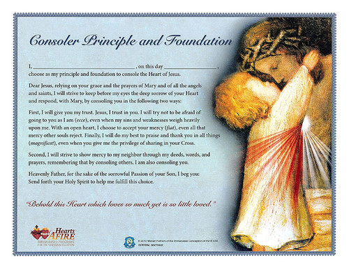 Consoling the Heart of Jesus Certificate