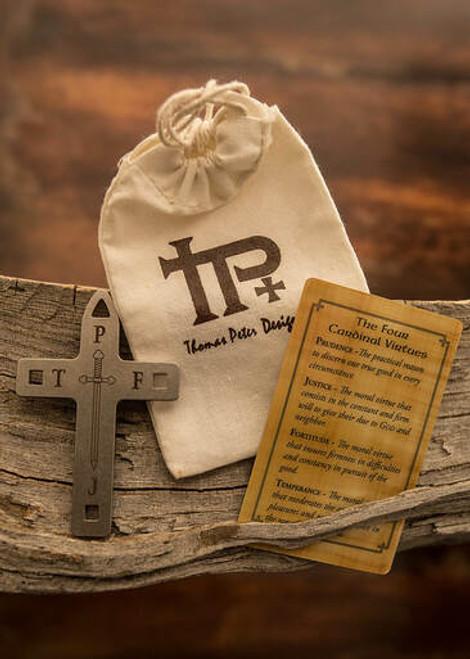 Sword Virtues Cross, Canvas Bag and Virtues