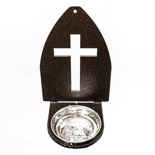 Door Cross Holy Water Font (Copper Vein)
