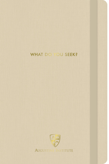 The Search Journal in Tan/Ivory