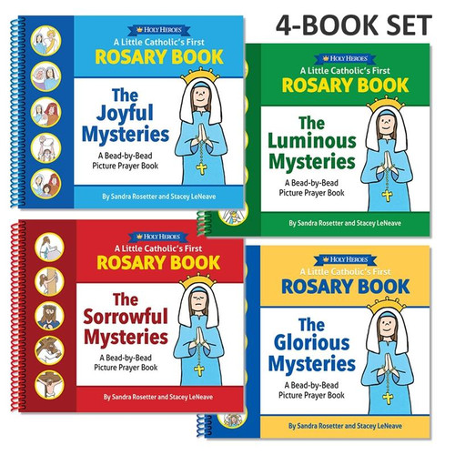 A Little Catholic's First Rosary Book: Bead-by-Bead Picture Prayer Book (4-BOOK SET)