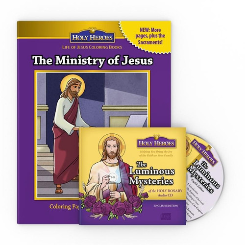 Luminous Mysteries CD & The Ministry of Jesus Coloring Book