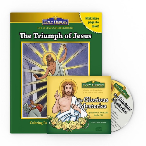 Glorious Mysteries CD & The Triumph of Jesus Coloring Book