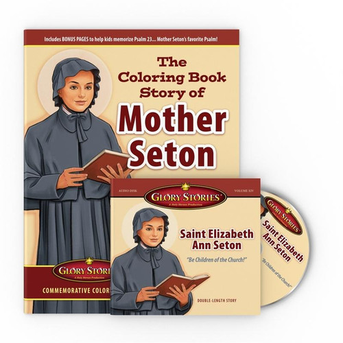 Glory Stories Vol 14: Saint Elizabeth Ann Seton CD & Coloring Book Set