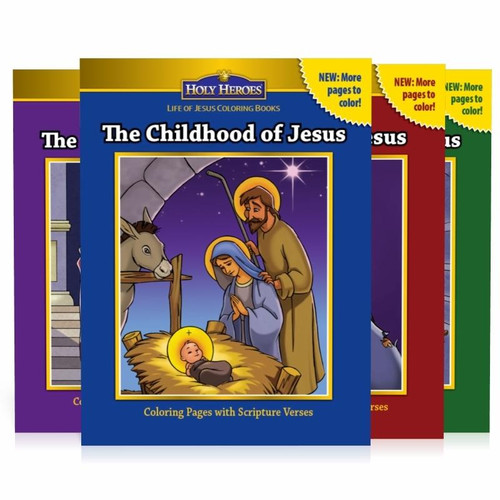 Life of Jesus Complete Coloring Book Pack