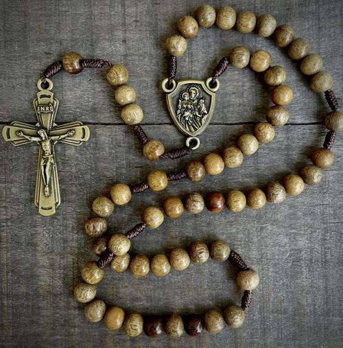 St. Joseph Guardian Rosary (Bronze)