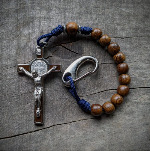 St. Benedict Paracord Pocket Rosary