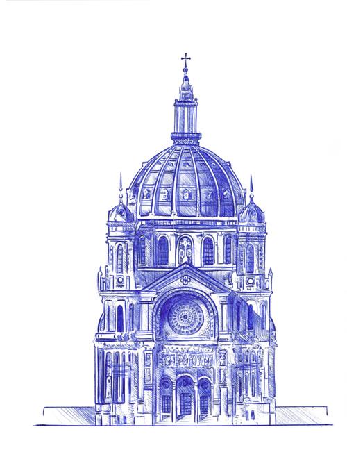 The Eglise Saint-Augustin de Paris, France Print