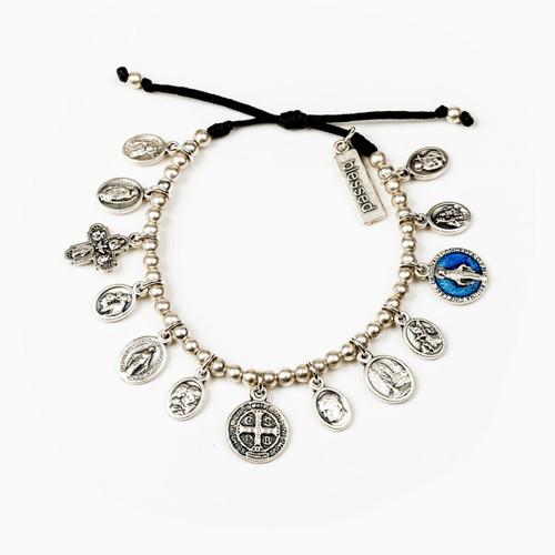 Glory Saints & Angels Bracelet (Black/Silver)