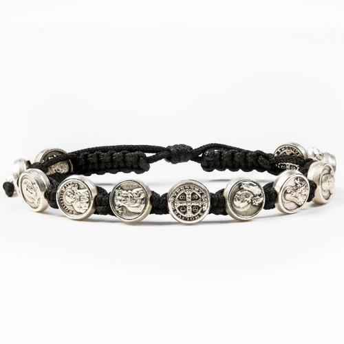 Saints & Heroes All Saints Bracelet (Black/Silver)