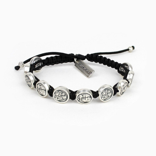 Saint Joseph Blessing Bracelet-(Silver/Black)