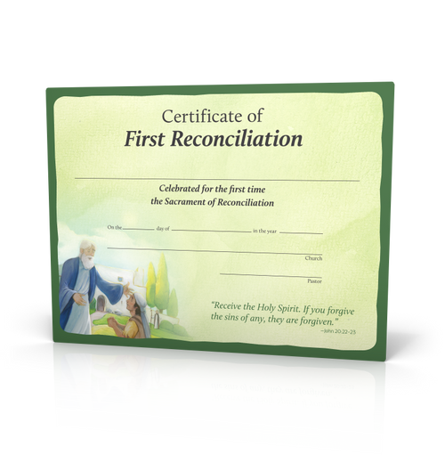 Signs of Grace - You Are Forgiven - First Reconciliation Certificates (20 Pack)