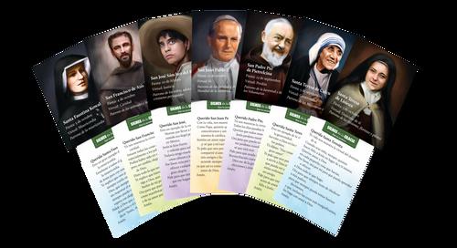 Signos de la Gracia - Dios te perdona: Tarjetas de oración de santos (140 unidades) – (You Are Forgiven, Saint Prayer Cards)
