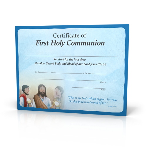 Signs of Grace - You Are Loved - First Communion Certificates (20 Pack)