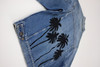 Black Embroidered Palms Jacket #16