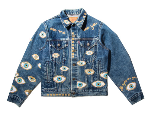 SOLD OUT Metallic Evil Eye Jacket #1