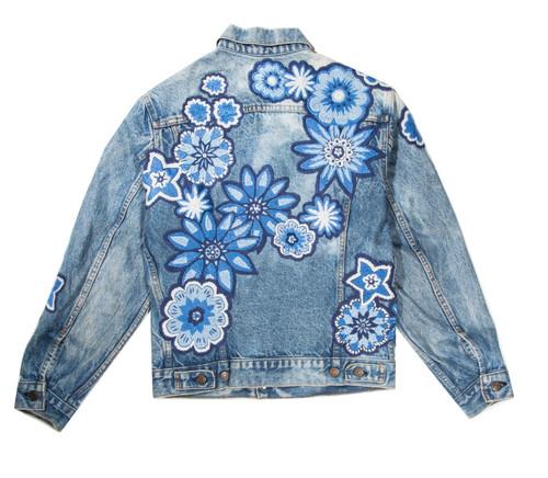 Monochromatic Geo Floral Jacket #1