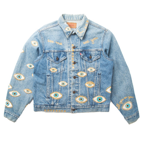 SOLD OUT Metallic Evil Eye Jacket #3