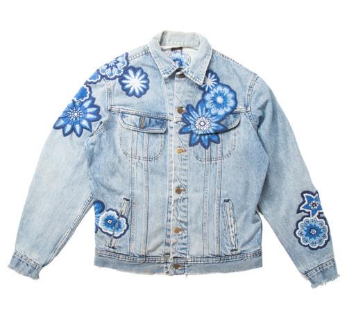 Monochromatic Geo Floral Jacket #2