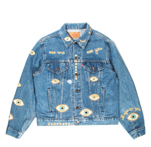SOLD OUT Metallic Evil Eye Jacket-Light #8