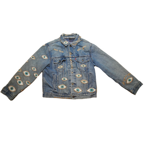 Metallic Evil Eye Jacket #10