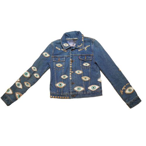 Metallic Evil Eye Jacket #11