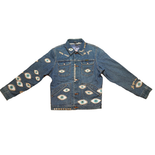 Metallic Evil Eye Jacket #12