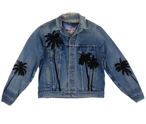 SOLD OUT Black Embroidered Palms Jacket #16