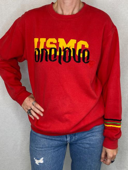 One Love Vintage Sweatshirt - Red
