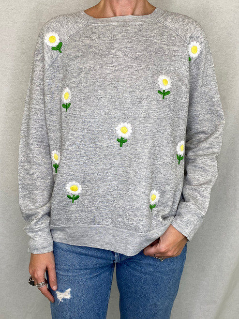 Daisies Vintage Sweatshirt - Heather Grey