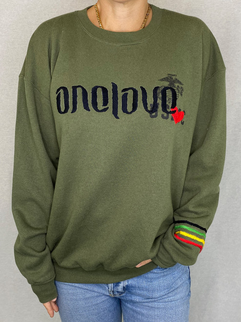 SOLD OUT One Love Vintage Sweatshirt - Army