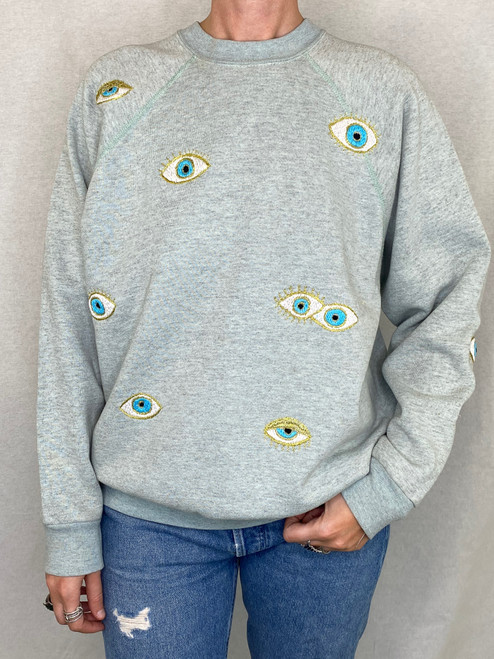 Evil Eye Vintage Sweatshirt - Seaglass - S O L D   O U T