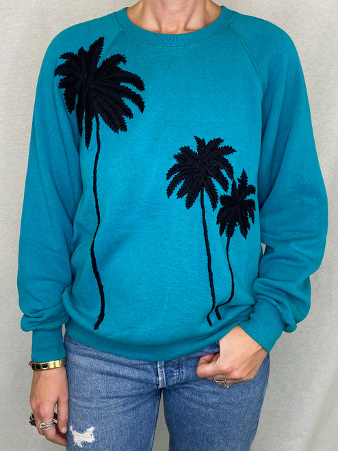 SOLD OUT Palms Vintage Sweatshirt - Teal