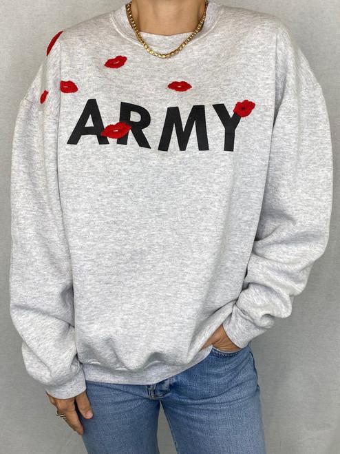 Lips Vintage Sweatshirt - Heather Grey