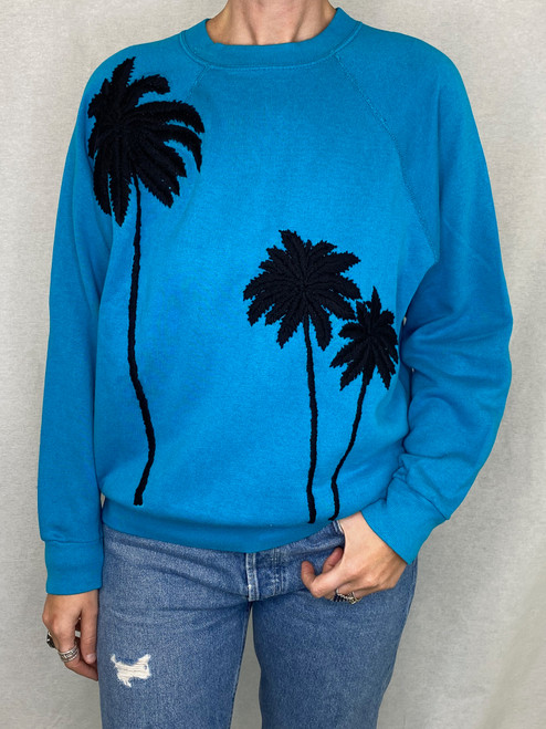 SOLD OUT Palms Vintage Sweatshirt - Turq