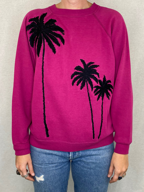 SOLD OUT Palms Vintage Sweatshirt - Fuchsia