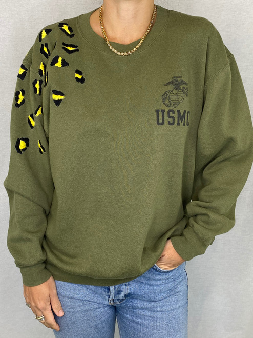 Leopard Vintage Sweatshirt - Army