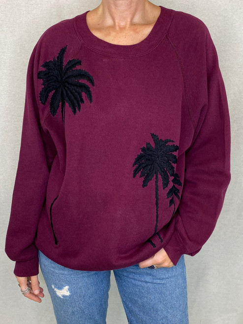 SOLD OUT Palms Vintage Sweatshirt - Plum