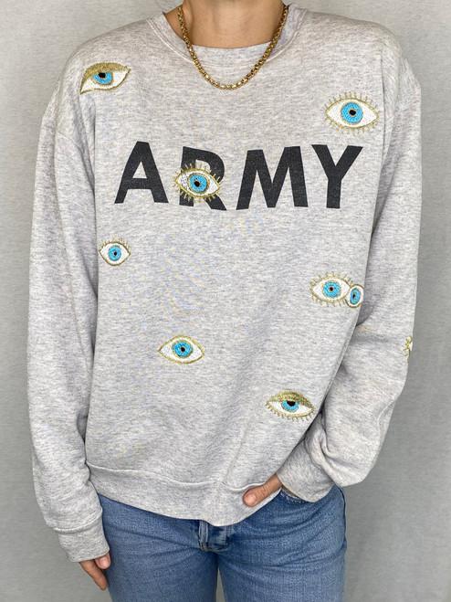 SOLD OUT Evil Eye Vintage Sweatshirt - Heather Grey