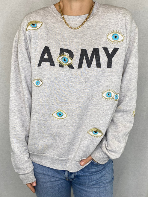 SOLD OUT Evil Eye Vintage Sweatshirt - Heather Grey