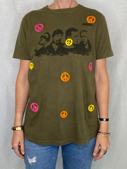 Peace Vintage T-Shirt - Army